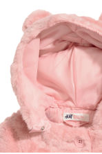 Faux fur coat - Light pink - Kids | H&M CN 3