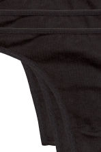 3-pack string briefs - Black -  | H&M 3