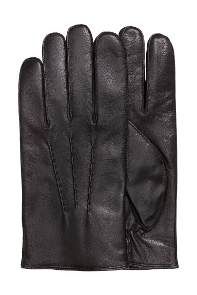 Blue leather gloves ladies uk - Leather Gloves Black Men H M