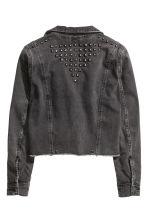 veste en jean avec rivets noir femme h m fr. Black Bedroom Furniture Sets. Home Design Ideas