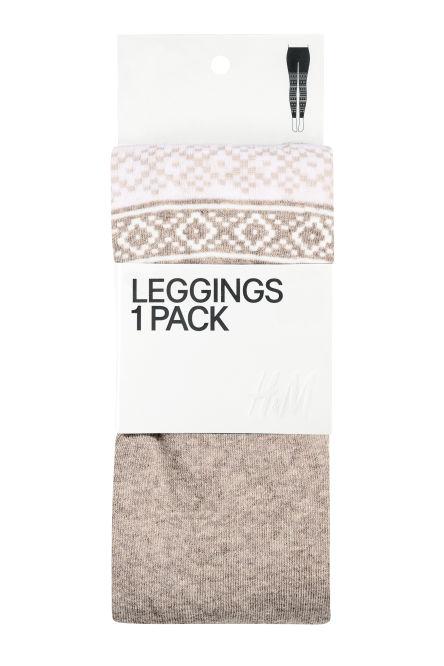 Jacquard-knit leggings