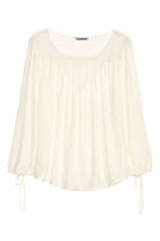 H&M+ Blouse with lace - Natural white - Ladies | H&M CN 2