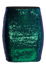 Glittery skirt - Green - Ladies | H&M CN 2