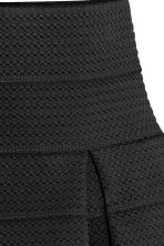 Textured skirt - Black - Ladies | H&M GB 4