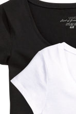 2-pack tops - Black/White -  | H&M 4