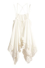 Sleeveless blouse - Natural white - Ladies | H&M CN 3