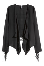 Fringed chiffon jacket - Black - Ladies | H&M CN 2