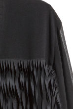 Fringed chiffon jacket - Black - Ladies | H&M CN 4