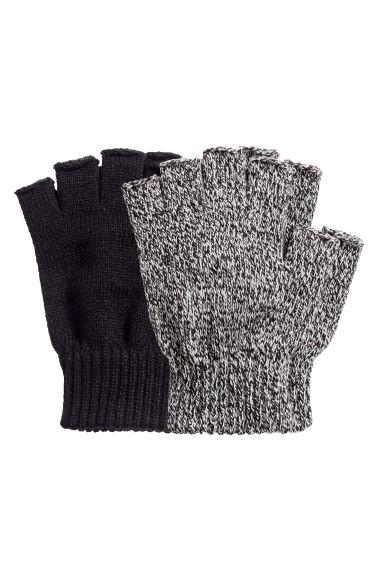 Fingerless gloves h m - 2 Pack Fingerless Gloves Black White Marl Men H M