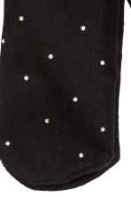Tights with sparkly stones - Black - Kids | H&M CN 3