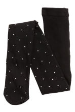 Tights with sparkly stones - Black - Kids | H&M CN 2