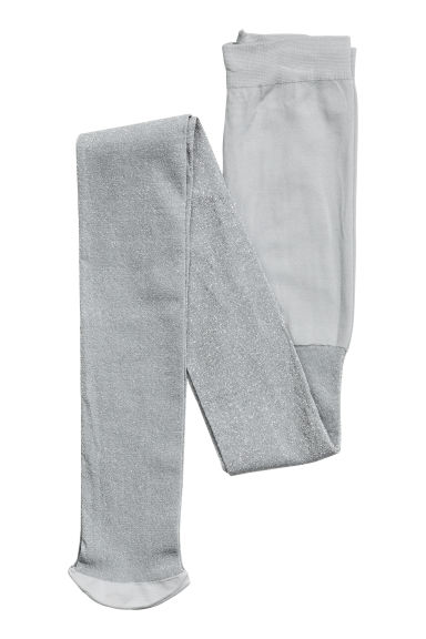Glittery tights - Light grey - Kids | H&M CN 1