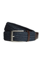 Braided belt - Dark blue - Men | H&M GB 1