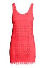 Lace dress - Neon coral - Ladies | H&M CN 1