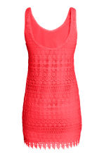 Lace dress - Neon coral - Ladies | H&M CN 2