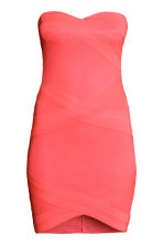 Bandeau dress - Neon coral - Ladies | H&M CN 2