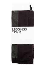 Leggings with glittery stripes - Black - Ladies | H&M CN 2