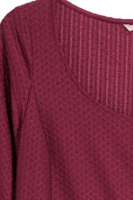 H&M+ Textured jersey dress - Burgundy - Ladies | H&M CN 2