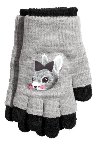 Fingerless gloves h m - Gloves Fingerless Gloves Grey Rabbit Kids H M