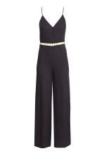 Jumpsuit in a lyocell blend - Black - Ladies | H&M CN 1