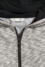 Hooded jacket - Grey marl - Kids | H&M CN 3