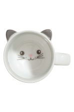 Mug en porcelaine - Blanc/chat - Home All | H&M FR 1