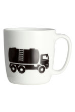 Mug en porcelaine - Blanc/voiture - Home All | H&M FR 2