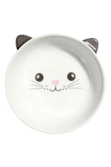 Small bowl - White/Cat - Home All | H&M IE 1