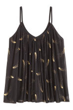 H&M+ Flared top - Black/Patterned - Ladies | H&M CN 2