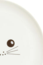 Plate with a print motif - White/Cat - Home All | H&M IE 4