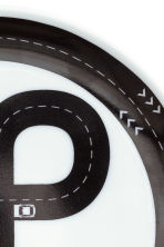 Porcelain plate - White/Car track - Home All | H&M CA 3