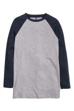 Baseball shirt - Dark blue - Men | H&M CN 2