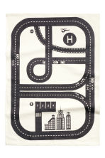 Cotton rug with print motif - White/Car track - Home All | H&M CN 2