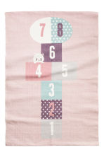 Print-motif cotton rug - Light pink - Home All | H&M CN 2