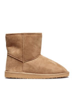 Pile-lined boots - Beige - Ladies | H&M CN 1