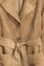 Coat in imitation suede - Beige - Ladies | H&M GB 3