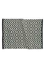 Jacquard-weave bath mat - Black/Patterned - Home All | H&M CN 2
