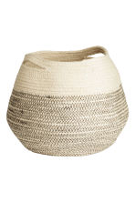 Jute storage basket - Natural white - Home All | H&M CN 2