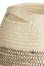 Jute storage basket - Natural white - Home All | H&M CN 3