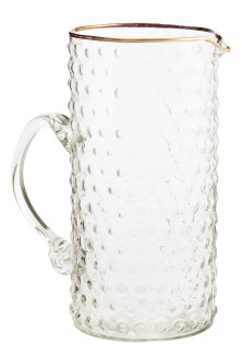 Jug in textured glass