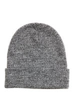 Knitted hat - Black marl - Men | H&M CN 1