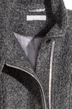 Cappotto in misto lana bouclé - Grigio scuro mélange - DONNA | H&M IT 3