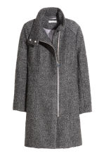 Cappotto in misto lana bouclé - Grigio scuro mélange - DONNA | H&M IT 2