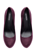 Platform court shoes - Burgundy - Ladies | H&M CN 2