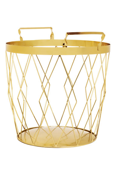 Storage basket - Gold - Home All | H&M GB 1