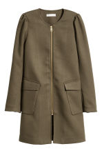 Textured coat - Khaki green -  | H&M GB 2