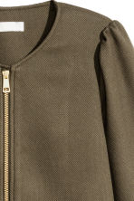Textured coat - Khaki green -  | H&M GB 3