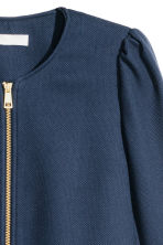 Textured coat - Dark blue - Ladies | H&M CN 3