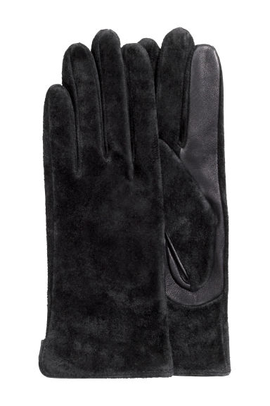 Suede gloves - Black - Ladies | H&M CN 1