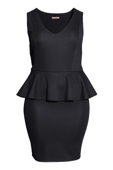 H&M+ Peplum dress